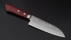 Hitohira NM V10 Damascus Santoku 130mm Pakka Handle | HITOHIRA