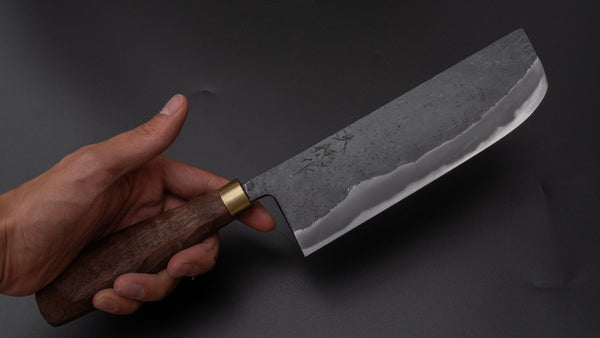 Daitoku Blue #2 Nakiri 165mm Walnut Handle | HITOHIRA