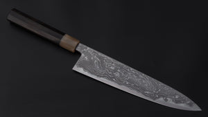 Hitohira Tanaka Kyuzo Vintage Swedish Carbon Limited Gyuto 240mm Taihei Ebony Handle (#2 (16) with Saya) | HITOHIRA
