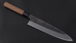 Hitohira Togashi Blue #2 Kurouchi Gyuto 240mm Walnut Handle | HITOHIRA