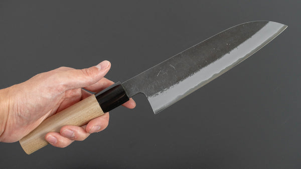 Hitohira Hinode Nashiji White #2 Stainless Clad Santoku 180mm Ho Wood Handle | HITOHIRA