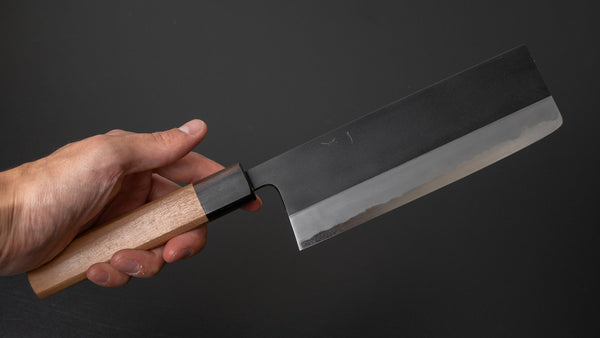 Hitohira Kikuchiyo Kyuzo White #2 Kurouchi Nakiri 180mm Cherry Wood Handle | HITOHIRA