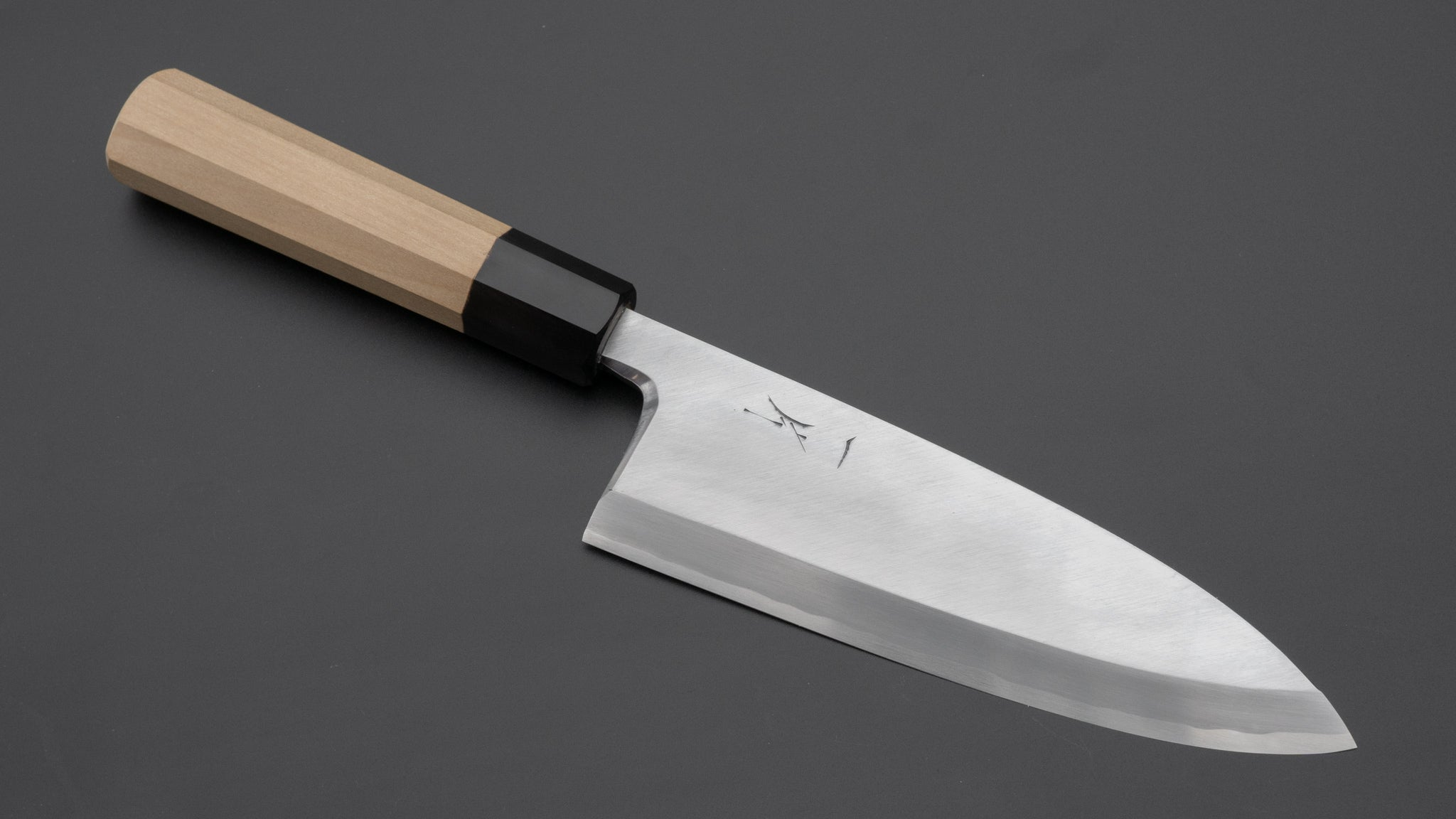 Hitohira Kikuchiyo Manzo Blue #2 Deba 180mm Ho Wood Handle (Saya) | HITOHIRA