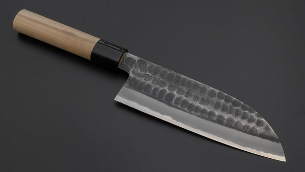 Hitohira Hinode Tsuchime White #2 Santoku 165mm Ho Wood Handle | HITOHIRA