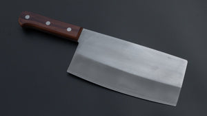 Mumei White #2 Stainless Clad Chinese Cleaver 170mm Rosewood Handle | HITOHIRA