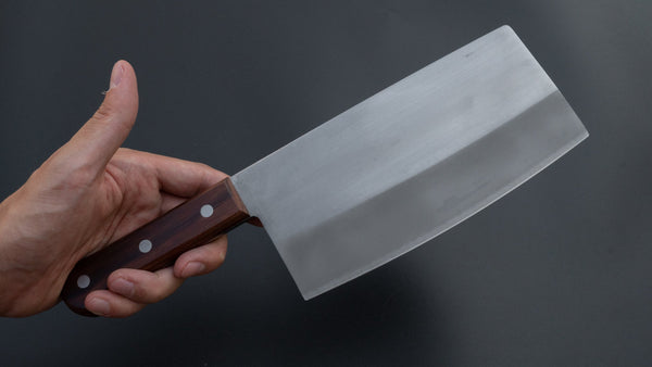 Mumei White #2 Stainless Clad Chinese Cleaver 170mm Rosewood Handle