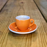 2oz EP Porcelain Cup & Saucer - ORANGE