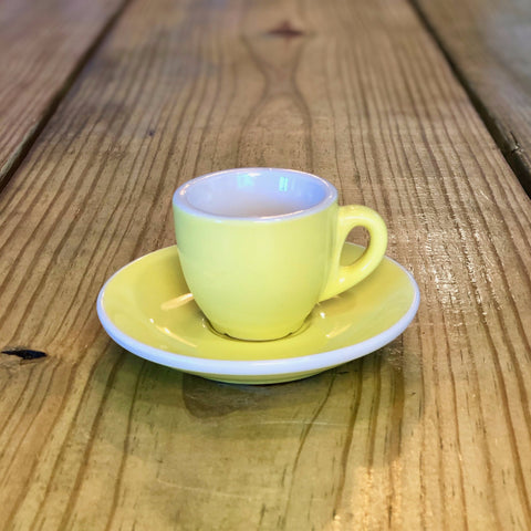 2oz EP Porcelain Cup & Saucer - YELLOW
