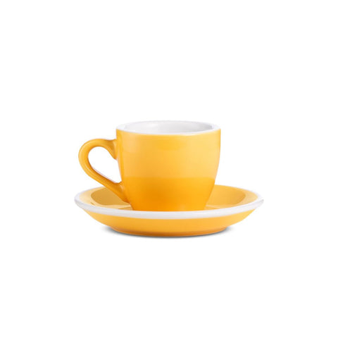 2.7oz Loveramics Egg Style Cup & Saucer - YELLOW