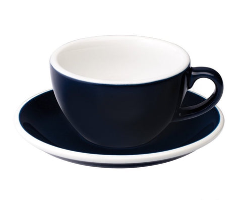 6oz Loveramics Egg Style Cup & Saucer - DENIM