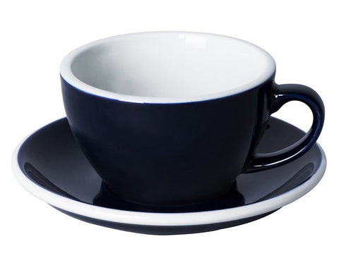 8oz Loveramics Egg Style Cup & Saucer - DENIM