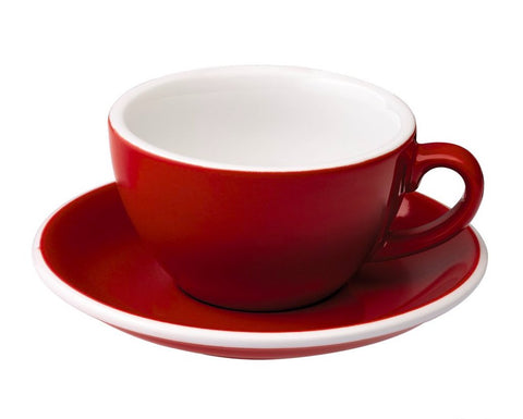 6oz Loveramics Egg Style Cup & Saucer - RED
