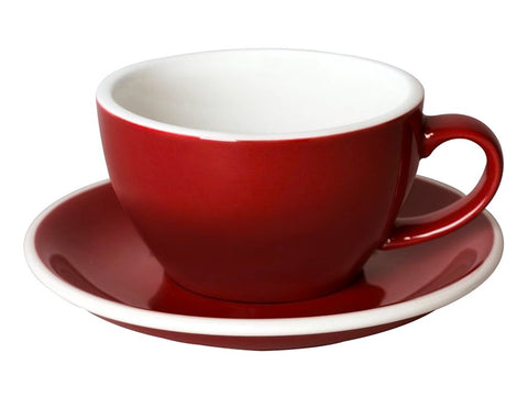 8oz Loveramics Egg Style Cup & Saucer - RED