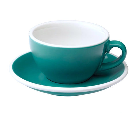 6oz Loveramics Egg Style Cup & Saucer - TEAL