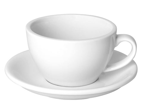 8oz Loveramics Egg Style Cup & Saucer - WHITE