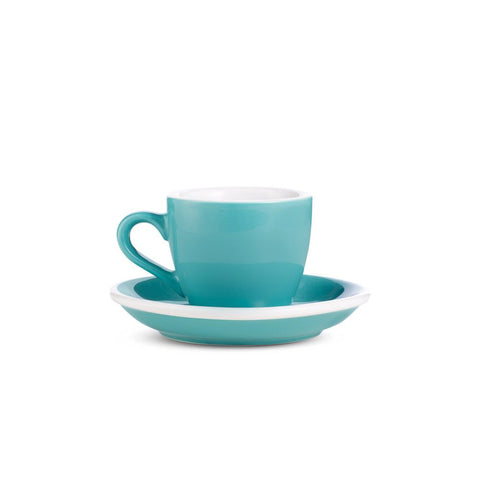 2.7oz Loveramics Egg Style Cup & Saucer - TEAL