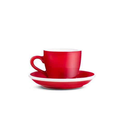 2.7oz Loveramics Egg Style Cup & Saucer - RED