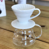 Hario V60 Coffee Dripper 01 Ceramic - White