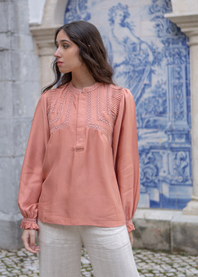 Jane Blouse - Rose Tan