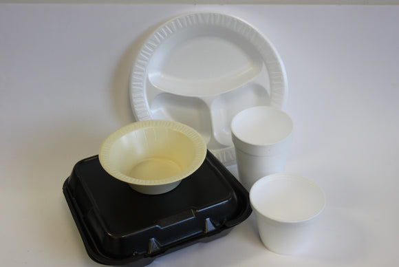 Foam-Containers, Cups, & Plates