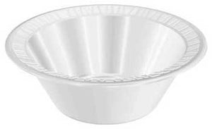 10-12 OZ. QUIET CLASSIC WHITE FOAM BOWL LAMINATED FOAM 12BWWQR-1000CT