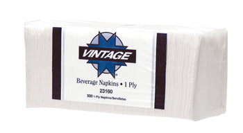 BEVERAGE  NAPKINS WHITE 1PLY 4000CT