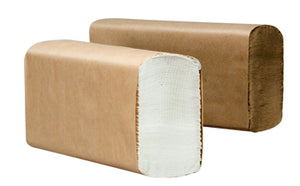"MULTIFOLD TOWELS KRAFT  9.125"" X 9.5"" 4000CT"