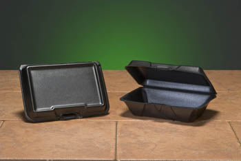 LARGE BLACK 1 COMPARTMENT FOAM HINGED LID 9.19