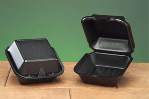 "1 COMPARTMENT SANDWICH BLACK 5-13/16"" X 5-11/16"" X 3-1/8"" SN225-3L BLACK"" 500CT"