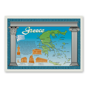 "GREECE PLACEMAT 10-1/4"" X 14-1/2"" STRAIGHT EDGE 1000CT"