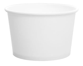6 OZ WHITE FLEX STYLE PAPER FOOD CONTAINERS 1000CT