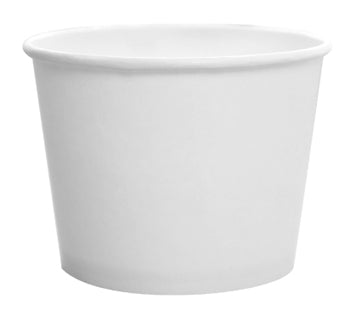 16 OZ WHITE FLEX STYLE  PAPER FOOD CONTAINERS 1000CT