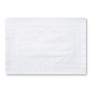 "WHITE BOND EMBOSSED PLACEMAT 10"" X 14"" STRAIGHT EDGE 1000CT"