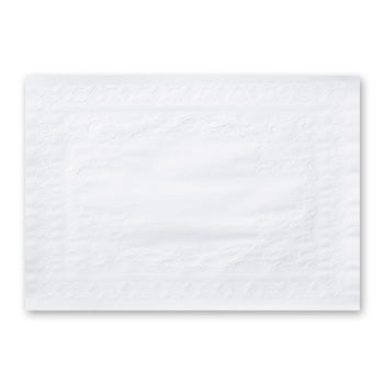 WHITE BOND EMBOSSED PLACEMAT 10