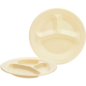 "9"" QUIET CLASSIC HONEY FOAM PLATE 3 COMP- LAMINATED FOAM 9CPHQR 500CT"