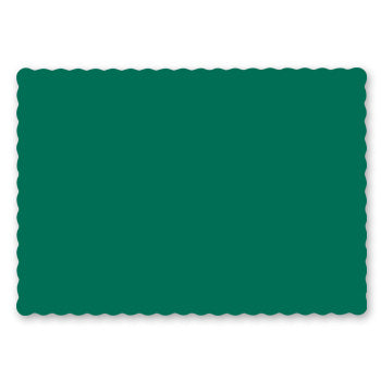 HUNTER GREEN PLACEMAT 9-1/2