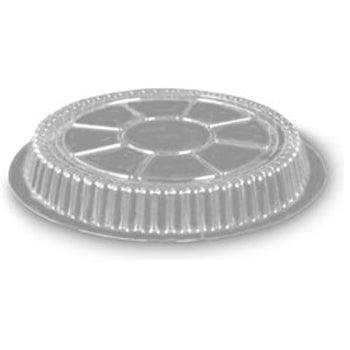 "9"" ROUND CLEAR DOME LIDS FOR ALUMINUM PANS 500CT"