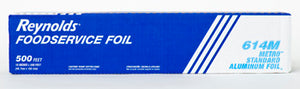 "18"" X 500' METRO ROLL FOIL - STANDARD WEIGHT ROLL FOIL IN A CUTTER BOX"