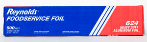 "18"" X 500' ROLL FOIL - HEAVY WEIGHT ROLL FOIL IN A CUTTER BOX 624"
