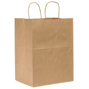13 X 7 X 17 #65 KRAFT RECYCLED BAGS WITH HANDLE 250CT