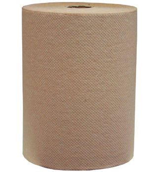 HARDWOUND PAPER TOWEL ROLL KRAFT 800' 6CT