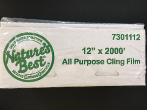 12 X 2000 PLASTIC FOOD WRAP FILM