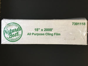 18 X 2000 PLASTIC FOOD WRAP FILM