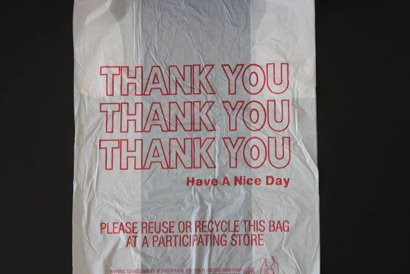 11.5X6.5X21.5 T SACK PLASTIC THANK YOU BAGS 1/6 12.5 MIC 1000CT