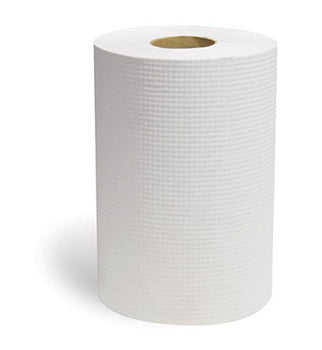 HARDWOUND PAPER TOWEL ROLL WHITE  800' 6CT