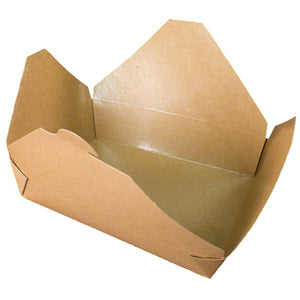 ECO TAKEOUT BOX #8 KRAFT 6X4.75X2.5-300CT