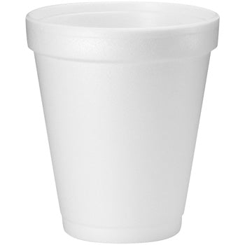 8 OZ. DART WHITE FOAM CUP 8J8-1000CT