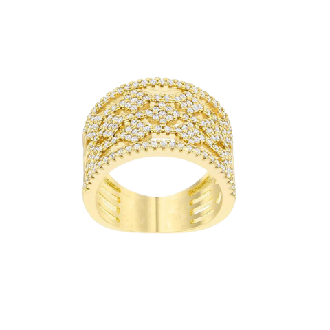 Elena Gold Floral Band Ring