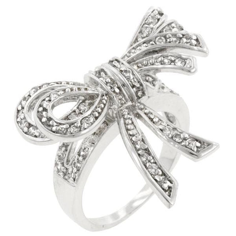 Double Knot Diamond Ring