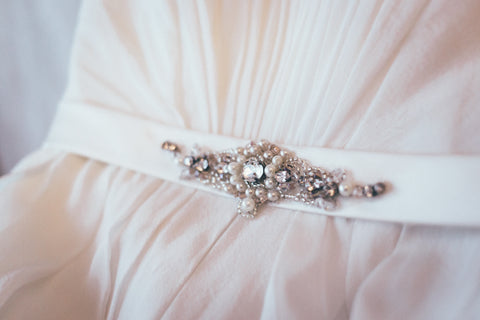 beaded wedding sash